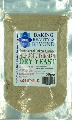 50g YEAST High Activity Instant Dry Bakers Yeast BUY 2 GET 1 FREE • 2.99£