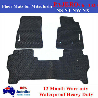 AU80.75 • Buy Heavy Duty Floor Mats Tailored For Mitsubishi PAJERO NS NT NW NX 2006 - 2020