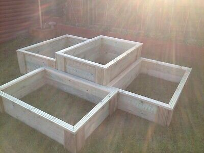 Deluxe Raised Bed Vegetable Garden Planter Tanalised Decking 3ft 4ft  • 44£