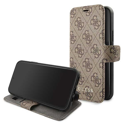 Genuine GUESS 4G Collection Stand Book Case For IPhone 11 Pro In Brown • 25.95£