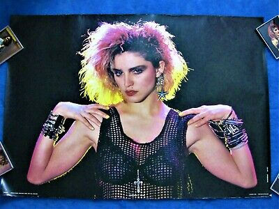 $40 • Buy MADONNA 1985 ANABAS POSTER PRINTED IN ENGLAND Rare Lucky Star Promo Outfit