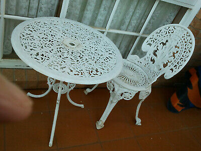 AU295 • Buy Vintage Cast Iron Table & Chair Outdoor Setting , Garden Furniture Set