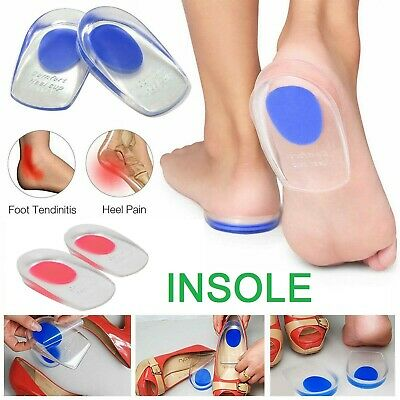 Foot Pain Fast Relief Insoles Plantar Fasciitis Gel Heel Support Cushion Pad Cup • 2.45£