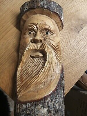 Green Man Of The Woods Hand Carved Wizard Tree Trunk Wood Man  ENT LOTR 30cm # • 13.49£