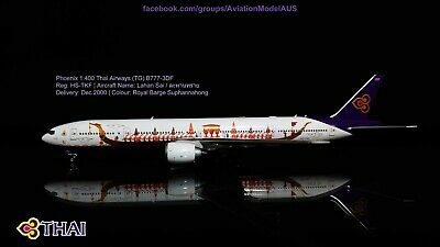 $64.82 • Buy Phoenix 1:400 Thai Airways TG A777-300 HS-TKF (Royal Barge Suphannahong Colour)