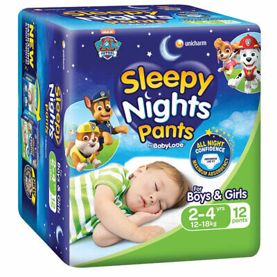 AU9.99 • Buy Babylove Sleepy Nights 2-4 Years Overnight Pants 12 Pack