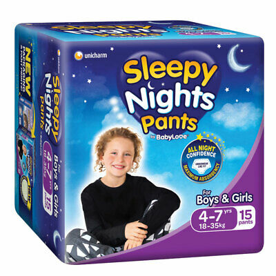 AU13.99 • Buy Babylove Sleepy Nights 4-7 Years Overnight Pants 15 Pack