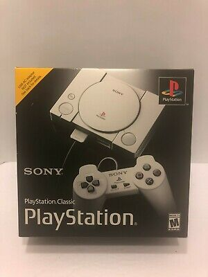 $89.99 • Buy Sony Playstation PS1 CLASSIC Mini Console - 20 Built-In Games / 2 Controllers