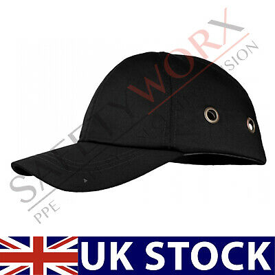 New Black Bump Cap Safety Baseball Cap Head Protective Hard Hat Ventilated PPE • 7.39£