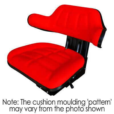 AU132 • Buy W222RE Tractor Seat With Base Red Universal Fit 120kg Max