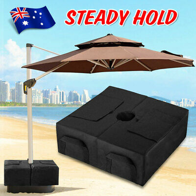 AU22.95 • Buy Outdoor Patio Umbrella Base Stand Movable Sand Weight Bags For Offset Cantilever