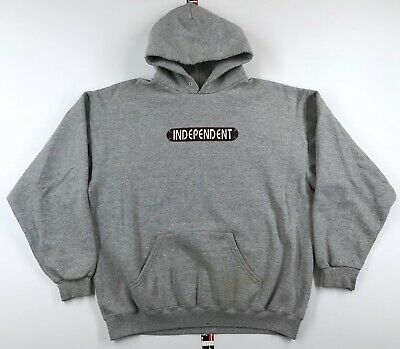 $49.99 • Buy Vintage Independent Truck Co. BOX LOGO Hoodie Sweatshirt Mens L. Skate (WORN)