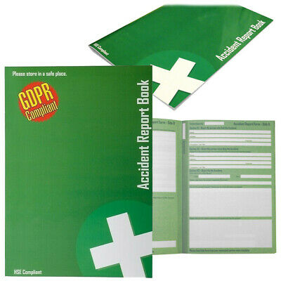 £2.99 • Buy Accident Report Book, HSE Compliant, Data Protection 1998, RIDDOR, GDPR