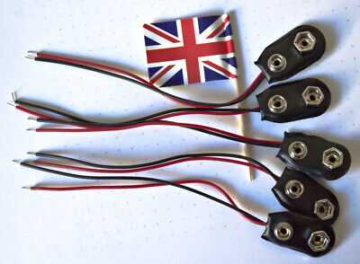 £1.98 • Buy PP3 9V Battery Clip, Connector I-type, 5 Pieces, 150mm 9 Volt