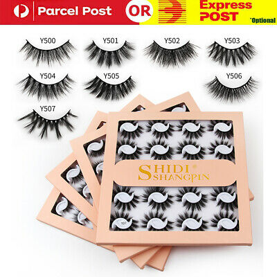AU14.99 • Buy 10 Pairs Natural Mink Fake Lashes Set 3D Mixed Layered Long Soft False Eyelashes