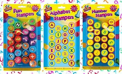 £8.39 • Buy 26 KIDS FUN STAMPS Animal Shape/Numbers Children Toy SELF INK Learning Education
