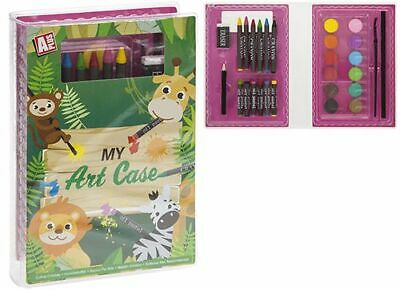My Art Case - 6 Crayons - 6 Oil Pastels - 12 Paints - Brush - 2 Pencils - Eraser • 9.39£