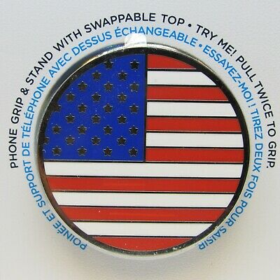 AU15.56 • Buy PopSockets Phone Grip Enamel AMERICAN FLAG POPGRIP PopSocket With Swappable Top