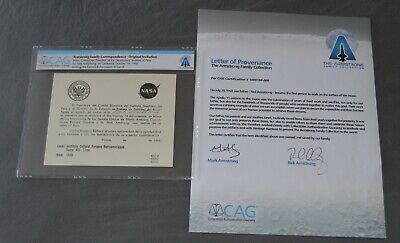 $349 • Buy Neil Armstrong Family Collection Owned Gemini 8 Card + Signed COA CAG Apollo 11