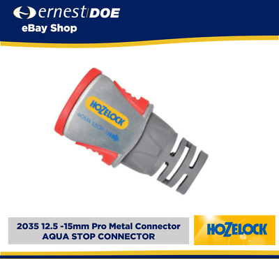 £8.99 • Buy Hozelock 2035 Pro Metal Hose End Water Stop Connector For 12.5mm Or 15mm Hose