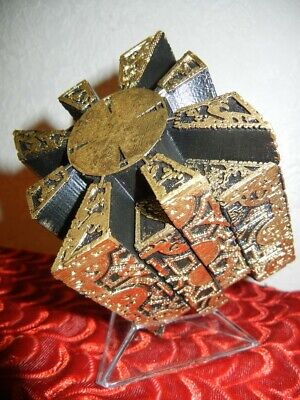 DELUXE HELLRAISER PUZZLE BOX With STAND HORROR HALLOWEEN PROP DISPLAY • 46.16£