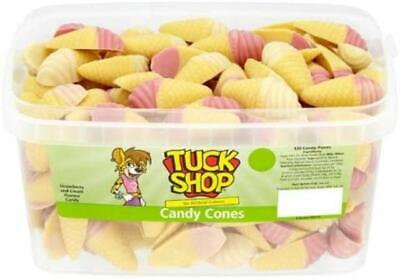 Tub 120 X Tuck Shop Ice Cream Chocolate Candy Cones Wholesale RETRO SWEETS • 9.99£