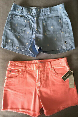 2 Pair Of Girls Shorts Blue And Pink Age 12 - 14 Years Bluezoo & Jasper Conran  • 15£