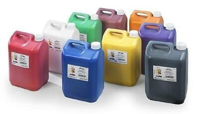 £21.23 • Buy Ready Mixed Paint 5 Litres - Craft Poster Paint For School, Home Or Nursery