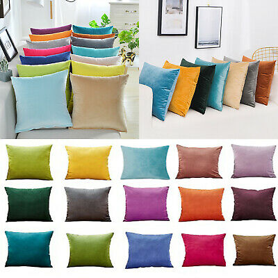 40x40cm/50x50cm/30x50cm Velvet Cushion Pillow Cover Pillowcase Home Sofa Decor • 3.99£