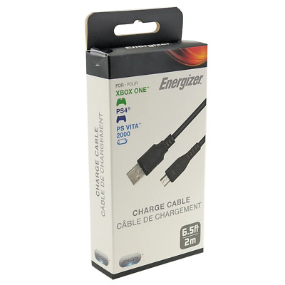 AU17.95 • Buy PDP Energizer Universal Charge Cable For Xbox One & PS4 NEW