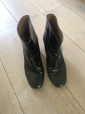 Chloe Leather Black Ankle Boots Size 38 • 65£