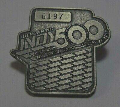 $39 • Buy Indy 500 2017 Silver Pit Badge #6197