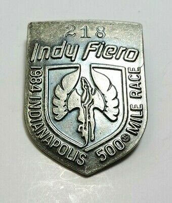 $39 • Buy Indy 500 Silver Pit Badge 1984 #218