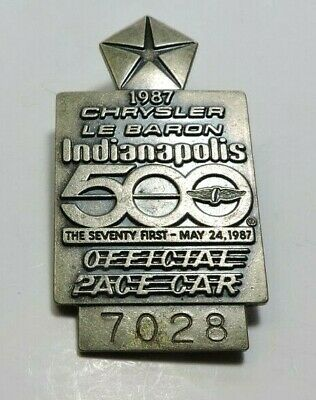 $25 • Buy Indy 500 Silver Pit Badge 1987 #3868