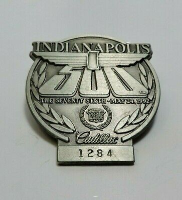 $25 • Buy Indy 500 Silver Pit Badge 1992 #1284