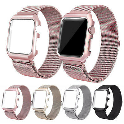 AU16.99 • Buy Apple IWatch Series 6 5 4 3 21 Magnetic Milanese Stainless Band Strap Case Cover