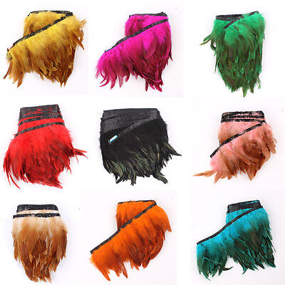 £2.69 • Buy Rooster Feather Fascinator Hackle Hen Fringe Trim Material 4-6inchs 1/5/10 Yards