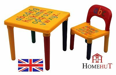 KidsTable And Chair Set Large ABC Alphabet Childrens  - Toddlers Childs - Gift • 15.75£