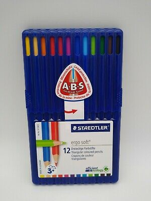 Staedtler Ergosoft Colouring Pencils Pack Of 12 Triangular Pencils With A.B.S • 10.99£