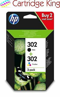 Genuine HP 302 2-Pack Black/Tri-colour Original Ink Combo Pack X4D37AE For Envy  • 27.90£