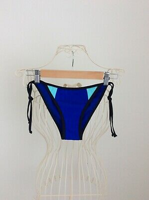 New Look String Tie Hipster Royal Blue Bikini Bottoms UK 10 Good Condition • 2.99£