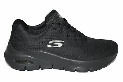 Womens Skechers Arch Fit Black 149057 Comfort Support Trainers Shoes • 69.99£