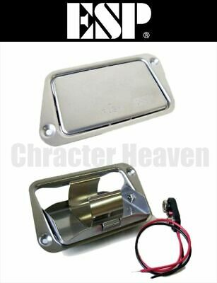 £33 • Buy ESP BATTERY BOX 9-volt Battery Box For Electric Guitar, Bass New Stainless Steel