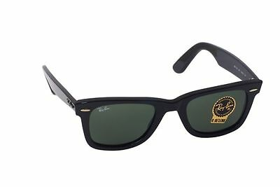 AU156.45 • Buy New Authentic Ray-Ban Wayfarer Sunglasses RB 2140 901 Black 54MM G15 Lens
