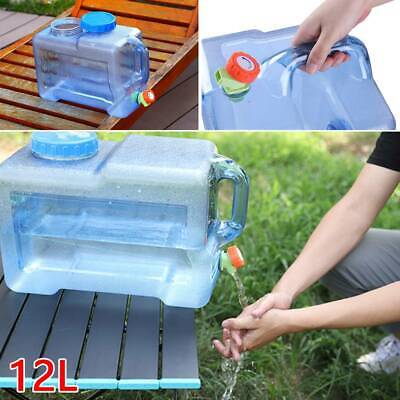 £17.59 • Buy Camping Hiking Tap Carry Tank Container Storage 12L Drinking Water Bottle Bucket