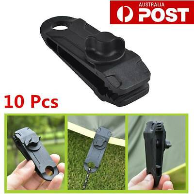 AU59.93 • Buy 10 X Awning Tarp Tent Clips Camping Survival Reusable Heavy Duty Clamp Tools AU