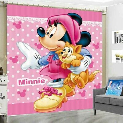 Mickey Mouse Buddies 3D Blockout Photo Curtain Print Curtains Fabric Kids Window • 105.42£