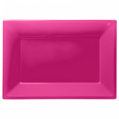 £3.89 • Buy Plastic Serving Platter Plates Trays Wedding Buffet Party Tray Hot Pink