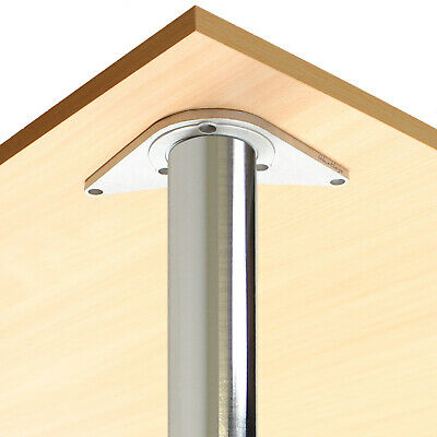 2 Brushed Chrome 890mm Worktop/kitchen/breakfast Bar Table Legs/supports/stands • 24.99£