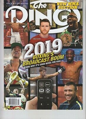 $9.75 • Buy Canelo Alvarez Naoya Inoue Ring Magazine Jan 2019 No Label Broadcast Boom
